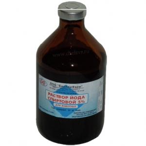 Йода спиртовой раствор (Solutio Iodi spirituosa) 5%, 100мл