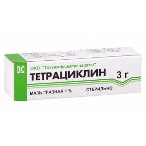 Тетрациклин глазная мазь 1%, 3 г