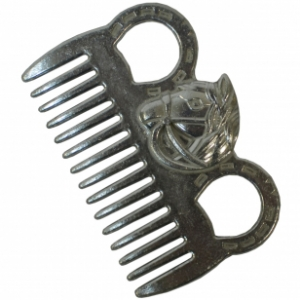 Гребешок алюминиевый для гривы с головой лошади EQUIMAN