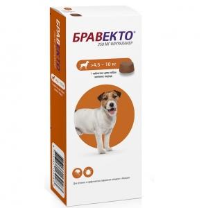 Бравекто (Bravecto) 112,5 мг (для собак мелких пород 4,5-10кг)