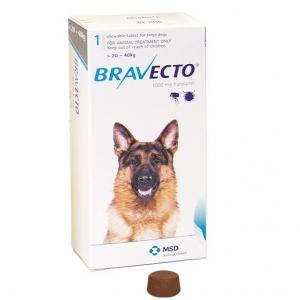 Бравекто (Bravecto) 1000 мг (для собак средних пород 20-40кг)