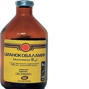 Цианкобаламин (витамин В12) 0,05%, 100мл