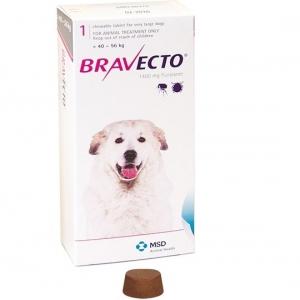 Бравекто (Bravecto) 1400 мг (для собак средних пород 40-56кг)