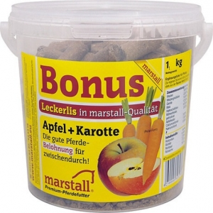 Бонус угощение для лошадей Яблоко+Морковь, 1кг